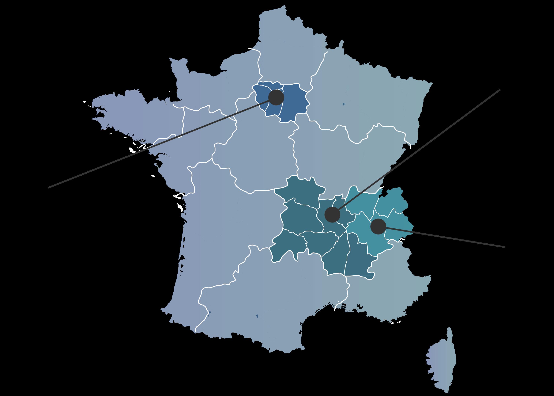 Nos agences à Lyon Paris et Chambéry