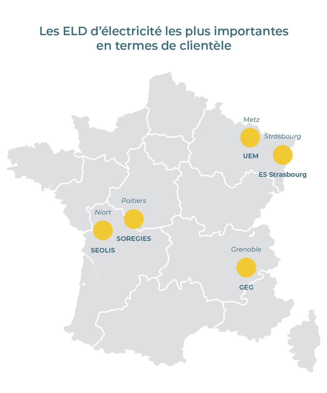 Entreprise locale de distribution d'électricité en France