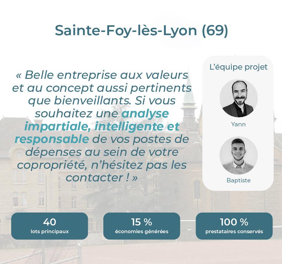 Avis Econhomes copropriété charges Lyon Sainte Foy Rhône